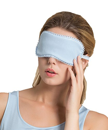 Double Mou cache oeil/cache oeil pour dormir, Bleu