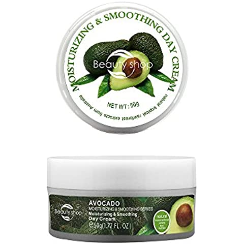 Avocado day cream Aguacate hidrata y que alisa Crema Día 50g más eficaces faciales cremas blanqueadoras - Ayuda a los signos del envejecimiento inversa. Para un cutis saludable y brillante ayuda a reducir las