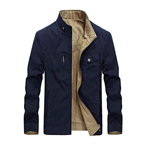 Bomberjacken Männer, Fall-dünne passende Baumwollbeiläufige warme Reißverschlussjacke, Männer Trenchcoats-Oberbekleidung mit Multi...