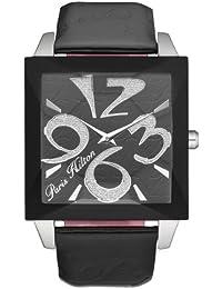Paris Hilton PH.13105MS/02 - Reloj para mujeres, correa de cuero color negro