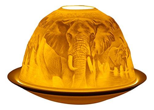 Him Elefants Cristal/portavelas candelabros, Cerámica, 12x12x8 cm