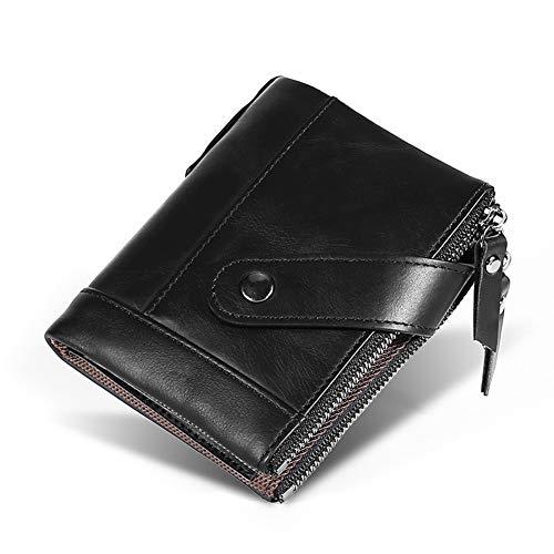 GZL Titular tarjeta crédito cuero genuino vendimia