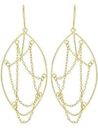 14ct oro Amarillo 48x 20mm abierto Marquis capas de Diam-cut Cable Cadena Strand Pendientes Euro de alambre cierre
