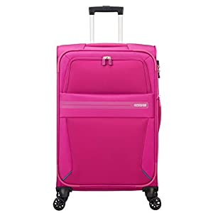 American Tourister Summer Voyager Spinner 68/25 Expandable 67.5/76 L, 3.3 KG Equipaje de Mano, 68 cm, 76 Liters, Rosa (Deep Pink)
