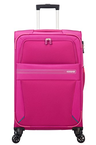 American Tourister Summer Voyager Spinner 68/25 Espandibile 67.5 L, 3.3 KG Bagaglio a mano, 68 cm, Rosa (Deep Pink)