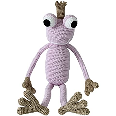 King Froggy rana rey de ganchillo (inoxidable)–de peluche, peluche, bebé regalo