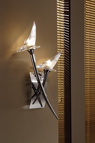 YYHAOGE Geschaltete Wand Lampe 2 Led Chrom Poliert - Chrom Wand Lampe