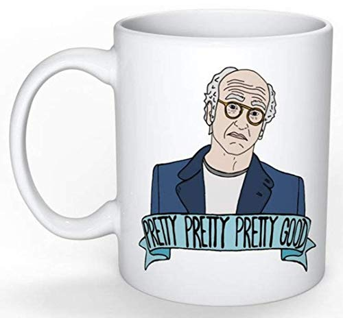 Larry David Mug (Curb your Enthusiasm, Jerry Seinfeld, George Costanza, Elaine Benes, Cosmo Kramer, SNL Amy Schumer), 11oz Ceramic Coffee Novelty Mug/Cup, Gift-wrap Available (Jerry Seinfeld Halloween)