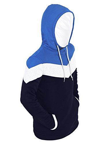Partiss Casual Veste à capuche pour homme Bleu