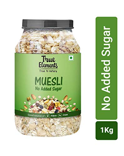 True Elements No Added Sugar Muesli Jar, 1 kg