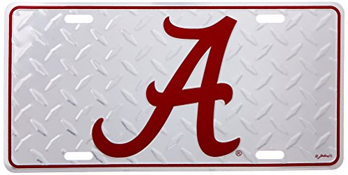 Game Day Outfitters NCAA Alabama Crimson Tide Diamant Plate Car Tag