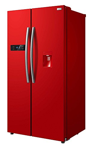 freestanding-90cm-wide-red-american-style-fridge-freezer-with-water-dispenser-rh90ff176r-wd