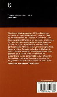 Tamerlan El Grande I Y Ii -70 A.- par Christopher Marlowe