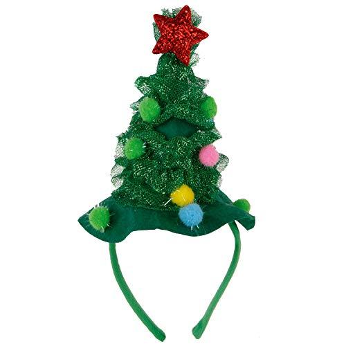 Roomando Weihnachtsbaum auf Haarreif mit Deko Partykostüm - Tüll Weihnachtsbaum Kostüm