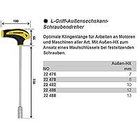 Proxxon 22 478 Destornillador para Vasos Hexagonales de Mango en L, L HEX - 8 mm