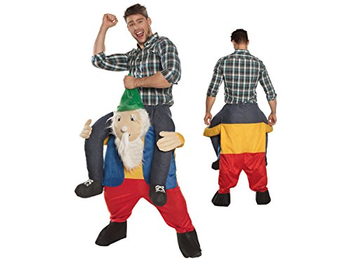 Zwerg trägt Mann Huckepack Kostüm JGA Karnevalskostüm Fasching von ALSINO