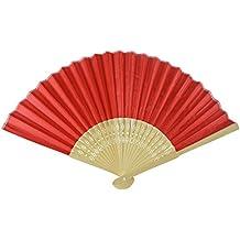 Rangebow SHF11 rosso confezione da 10 all'ingrosso tessuto di seta a mano Fan di bambù costole favore partito di nozze