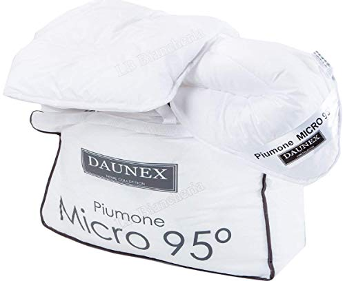 R.P. Daunex - Piumino - Interno Sacco sintetico 4 STAGIONI invernale-stivo-mezza stagione in poliestere ANALLERGICO lavabile a 95°C - Cm 250x200 letto Matrimoniale 2 Piazze