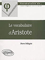 Le vocabulaire d'aristote