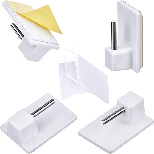 24 pacchi ganci autoadesiva plastica ganci di adesivo per finestre per bastoni per tende netti (stile a)