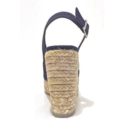 CASTANER BELLA zeppa donna in corda Blu