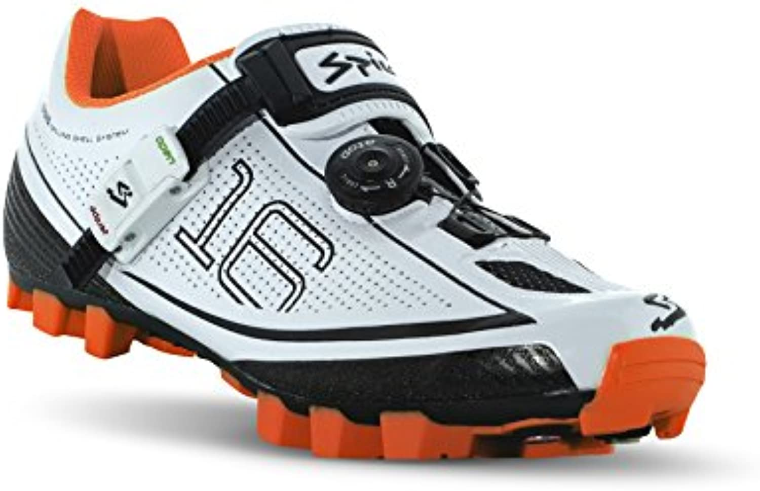 Spiuk 16 MTB - Zapatillas Unisex, Color Blanco/Naranja  -