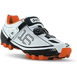 Spiuk 16 MTB - Zapatillas unisex, color blanco / naranja, talla 49
