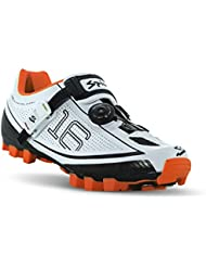 Spiuk 16 MTB - Zapatillas unisex, color blanco / naranja