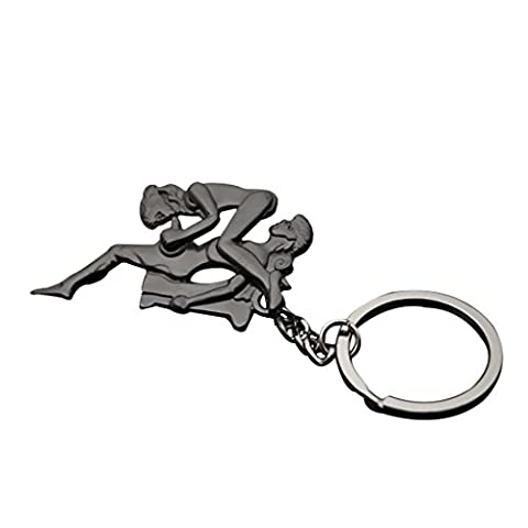 MagiDeal Sexy Liebhaber Metall Keyring Schlüsselanhänger Ketten Lustiges Spielzeug - B #