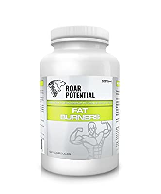 ROAR POTENTIAL® Premium Thermogenic Fat Burner Supplement For Weight Loss - Weight Management Supplement - Supports Weight Loss Diets – Physique Sculptor - Pre-Workout – Explosive Energy Boost – For Men and Women - 120 Capsules – 60 Day Supply – Made in B