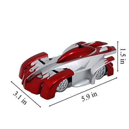 Image of CFL Remote Control Climber Wall Car Racing Car Ceiling Spiderman Wall Climbing Stunt Car Red