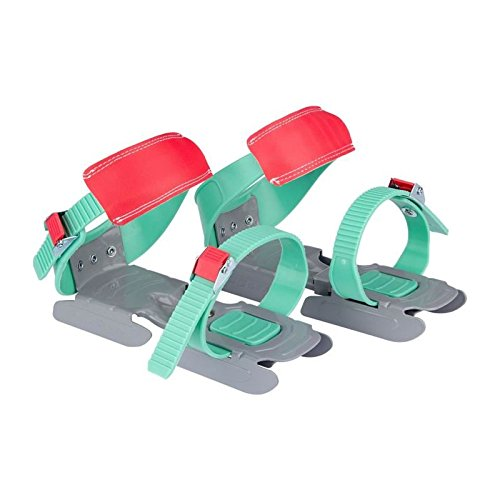 Nijdam® Junior Kinderschlitschuhe verstellbare Gleitschuhe Größe 24 - 35 Koralle Grau Mintgrü (Mintgrün Und Koralle)
