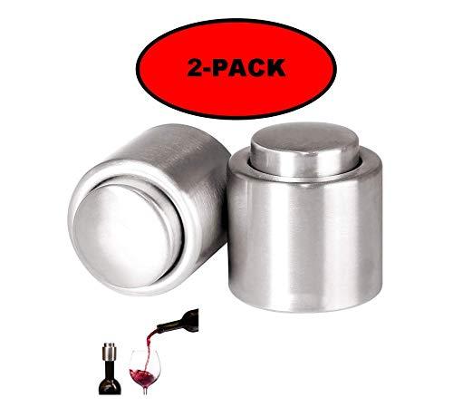 ZT TRADE Flaschenverschluss Vakuum Wein Stopfen Wein Flaschenverschlüsse Vakuumflaschenverschluss mit Vakuumpumpe für Red Wind/Weißwein/Weinflaschen (2 Pack)