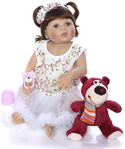 Silikon Baby Puppen Spielzeug Puppe Stricken Outfit Weiche Simulation Silikon Vinyl Baby Puppen Mädchen Toys Reborn Puppen Mit Free Dummy