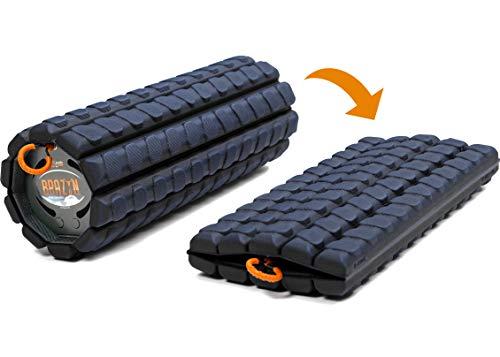Brazyn Faltbares und tragbares Muskel-Rückenmassagegerät für die Myofascial Release Massage (Morfo Alpha Foam Roller) Mitternachtsblau - Roller Rückenmassagegerät
