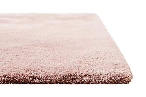 Homie Living I Moderner kuscheliger, weicher, Flauschiger Teppich - Läufer für Wohnzimmer, Flur, Schlafzimmer, Kinderzimmer I Sienna I (80 x 150 cm, Rosa) -