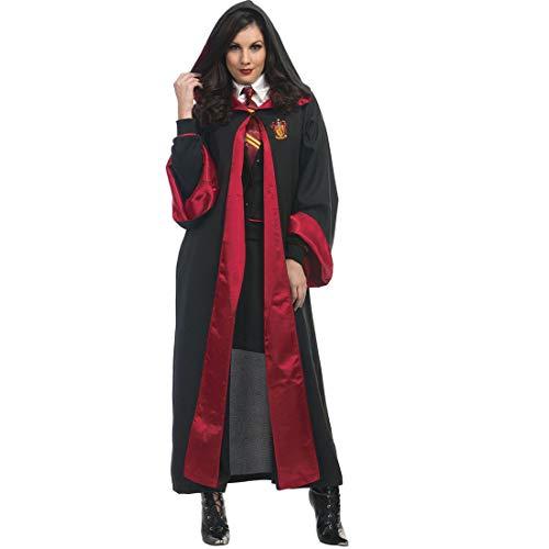 Harry Potter Wizard Kostüm - HOOLAZA Schwarz Unisex Mit Kapuze Cape Hogwarts Schule für Hexerei und Zauberei Student Teacher Robe Wizard Hexe Rollenspiel Kostüm Dress Up