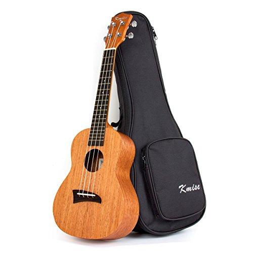 Kmis, ukulele tenore da 66 cm (26 pollici), in abete massiccio, con ponte nero in palissandro e custodia, 26' D