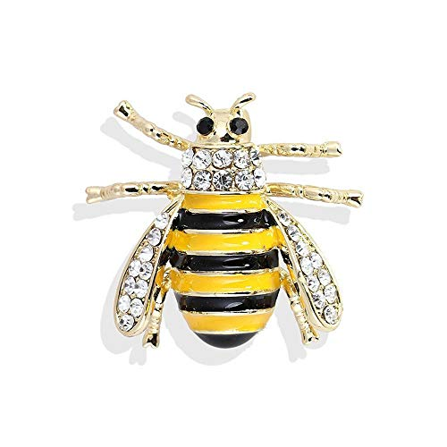 Ludage Exquisite Brosche Fashion Diamond Black Bee Brosche High-End-Schmuck Corsage Kostüm ()