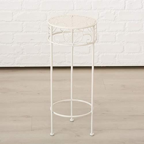 Meinposten. Hoher Beistelltisch weiß Metall Telefontisch Pflanzentisch Blumenständer Tisch (Mittlerer Tisch: 25 x 60 cm)