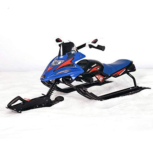 LYATW Schneeschlitten Racer Rad -Steuerung - Bremsen, Kindermotorschlitten Winter Outdoor Ski Geeignet for Erwachsene und Kinder, Ski Außen Schnee-Schlitten (Color : Blue)