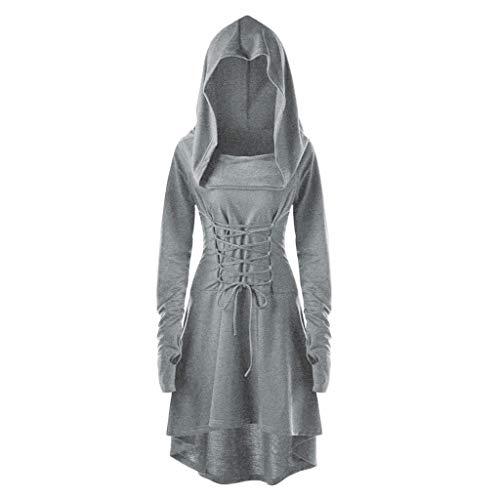 SUMTTER Mittelalter Kleid Damen Vintage Gothic Kleidung Umhang Karneval Kostüm Damen Große Größen Oberteil Sale Pullover für Halloween Weihnachten