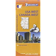 Carte USA Canada Ouest Michelin