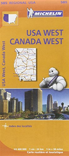 Carte USA Canada Ouest Michelin par Collectif MICHELIN