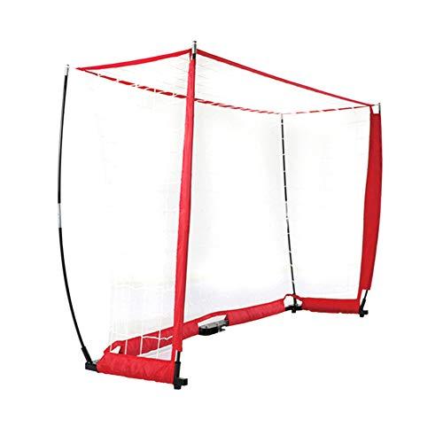 QIANGGAO Fußballtor 3 * 2 m Tragbares Bogennetz | Metallbasis | Langlebige Fiberglas - Vertikalstangen | Schnelle Einrichtung | 1 Tor + 1 Tragetasche -