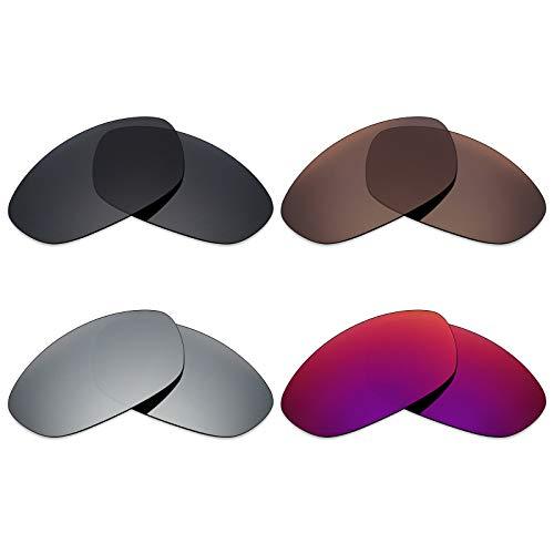 Mryok polarisierte Ersatzgläser für Oakley Twenty XX 2012 Sonnenbrille - Stealth Black/Bronze Brown/Silver Titanium/Midnight Sun