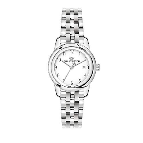 Philip Watch Orologio da donna, Collezione Anniversary, movimento al quarzo, funzione tempo e data, in acciaio - R8253150508