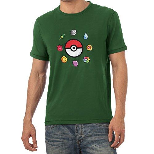 TEXLAB - Poke Gems - Herren T-Shirt Flaschengrün
