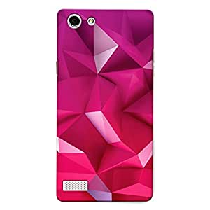 CrazyInk Premium 3D Back Cover for Oppo Neo 7 - Pink Abstract