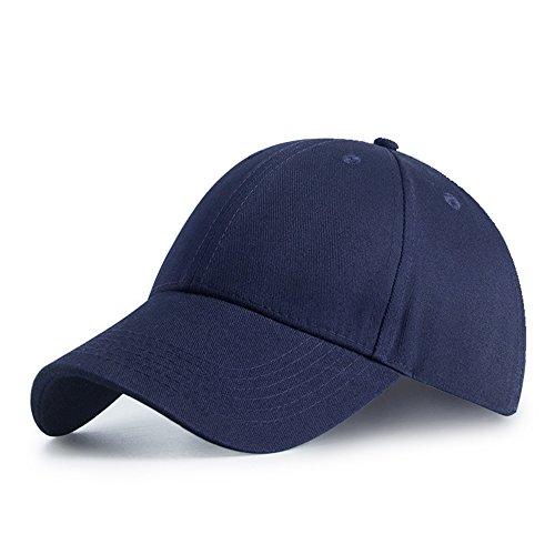 HGDGears Gorra de Beisbol,algodón Snapback Ajustable Gorra Trucker Hombre Mujer Verano Sombrero de Sol (azul marino)